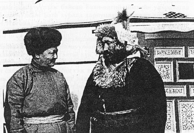 Оспан батыр Монголия Президенті Чойбалсанмен кездесуде (Бұлғын-Шіңгіл 1944)